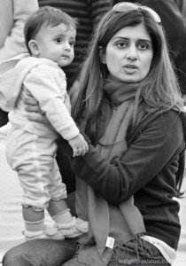 Hina Rabbani Khar with daughter
