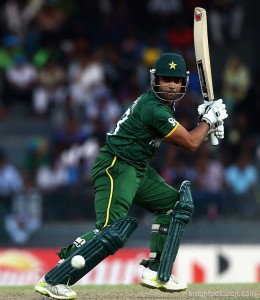 Umar Akmal batting in T20 match