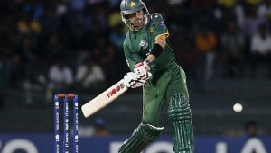 Umar Gul batting in T20 match