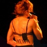 Madonna back tattoo says Malala