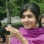 Malala Yousafzai with digital camera