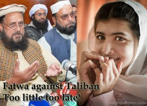 Malala Yousafzai, Fatwa against Taliban