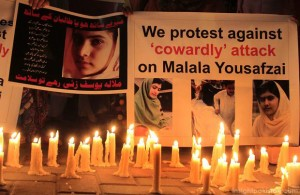 Malala Yousafzai support rallies in Pakistan