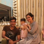 Faisal Qureshi, wife Sana, daughter Aayat