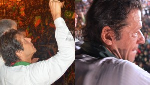 Imran Khan at PTI Azadi March