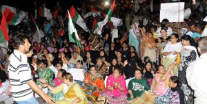 MQM sit-in in Karachi