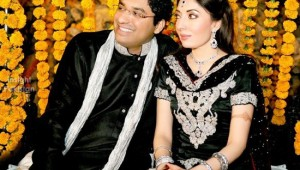 Sharmila Farooqi and Hasham Riaz engagement