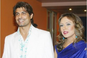 Sofia Ahmed with husband Sohail Sameer