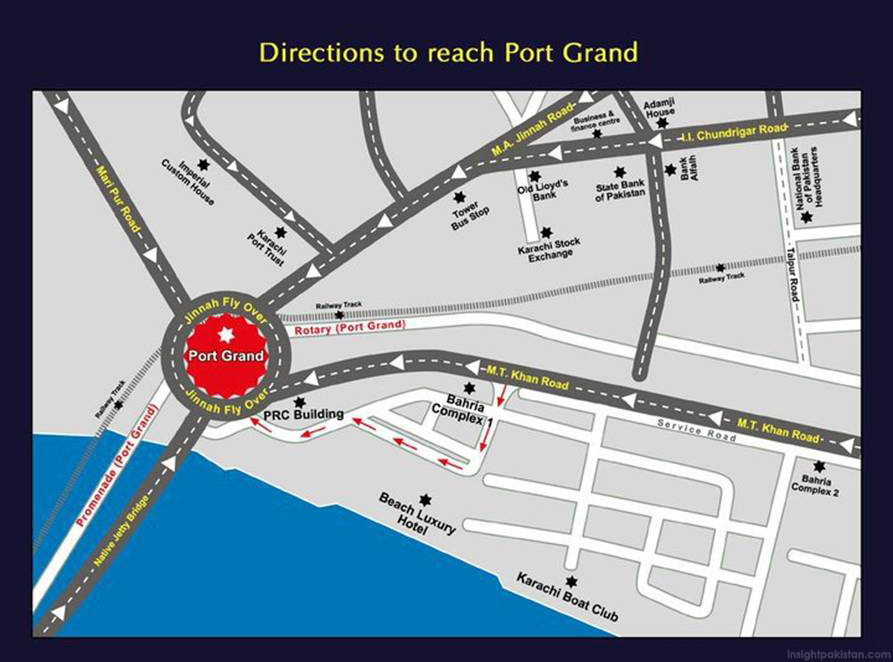 Map of Port Grand, Karachi