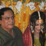 Bride's father at Naveen Waqar & Azfar Ali mehndi