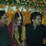 Bride's brother & father at Naveen Waqar & Azfar Ali