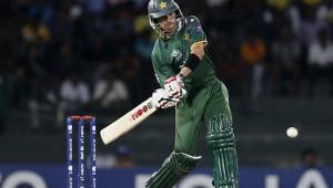 Umar Gul batting in T20 match