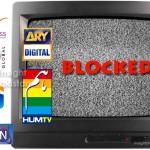 TV channels blocked