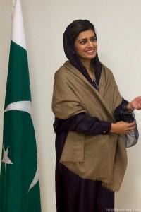 Hina Rabbani Khar at NATO