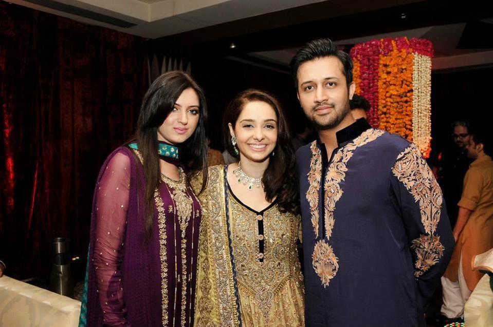 Atif Aslam And Wife Sara At Juggan Kazim S Mendhi