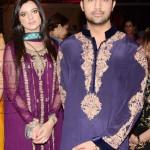 Atif Aslam and Sara Bharwana at Juggan Kazim mehndi