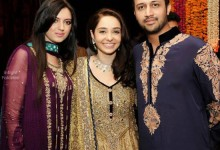 Atif Aslam and Sara Bharwana at Juggan Kazim mehndi