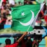 Cricket match Pakistan Flag
