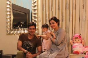 Faisal Qureshi, wife Sana, daughter Aayat