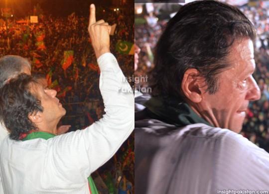 Imran Khan at PTI Azadi March