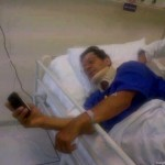 Imran Khan in SKMH hospital