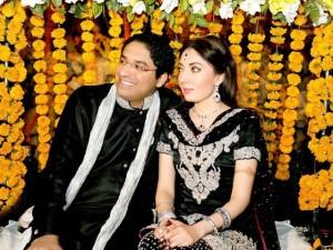 Sharmila Farooqi and Hasham Riaz engagement